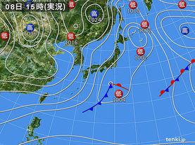 実況天気図(2017年12月08日)