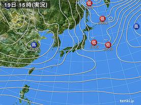 実況天気図(2017年12月19日)