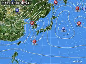 実況天気図(2017年12月24日)