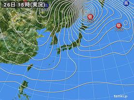 実況天気図(2017年12月26日)