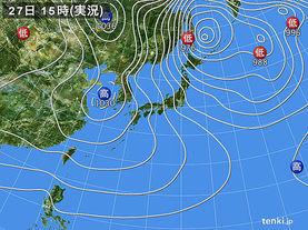 実況天気図(2017年12月27日)