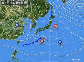 実況天気図(2018年01月05日)