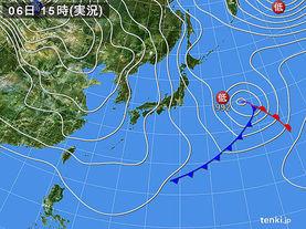 実況天気図(2018年01月06日)