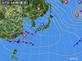 実況天気図(2018年01月07日)