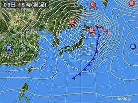 実況天気図(2018年01月09日)
