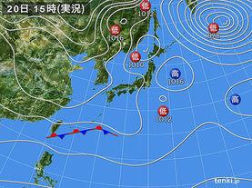 実況天気図(2018年01月20日)