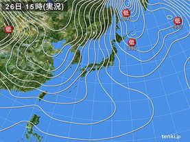 実況天気図(2018年01月26日)
