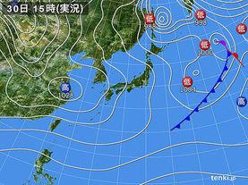 実況天気図(2018年01月30日)