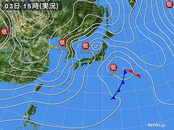 実況天気図(2018年02月03日)
