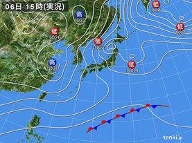実況天気図(2018年02月06日)