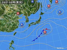 実況天気図(2018年02月26日)