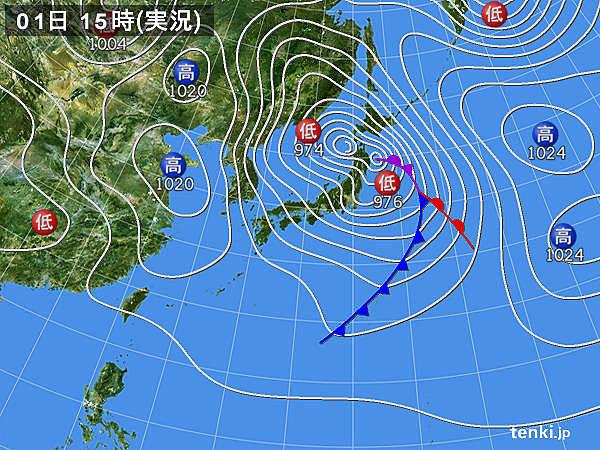実況天気図(2018年03月01日)
