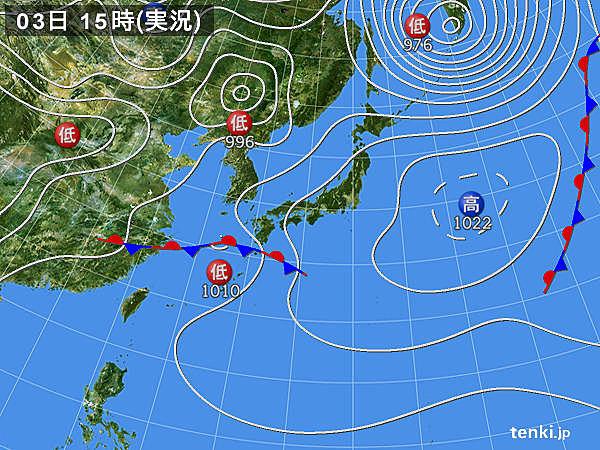 実況天気図(2018年03月03日)