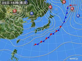 実況天気図(2018年03月06日)