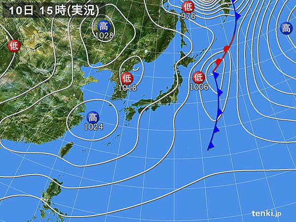 実況天気図(2018年03月10日)