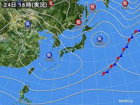実況天気図(2018年03月24日)