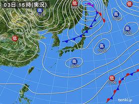 実況天気図(2018年04月03日)