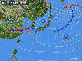 実況天気図(2018年04月05日)