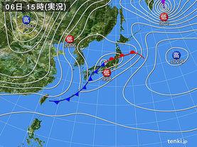 実況天気図(2018年04月06日)