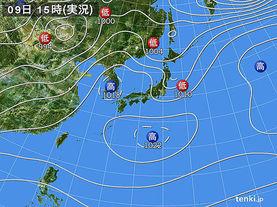 実況天気図(2018年04月09日)
