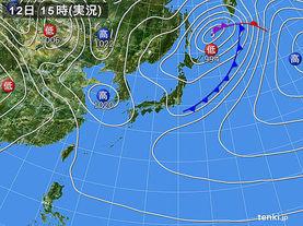 実況天気図(2018年04月12日)
