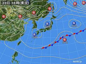 実況天気図(2018年04月20日)