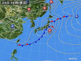 実況天気図(2018年04月25日)