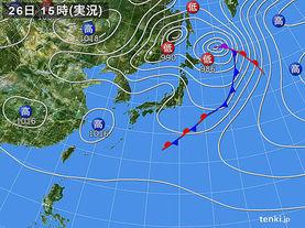 実況天気図(2018年04月26日)