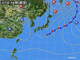 実況天気図(2018年04月27日)