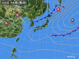 実況天気図(2018年04月30日)