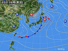 実況天気図(2018年05月03日)