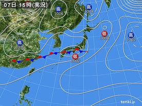 実況天気図(2018年05月07日)