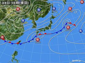 実況天気図(2018年05月08日)