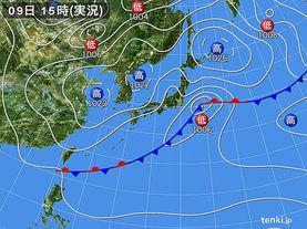 実況天気図(2018年05月09日)