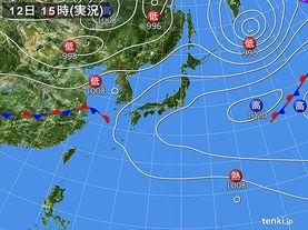 実況天気図(2018年05月12日)
