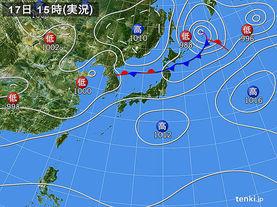 実況天気図(2018年05月17日)