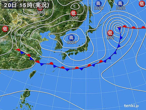 実況天気図(2018年05月20日)