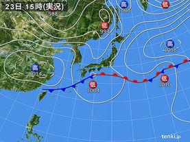 実況天気図(2018年05月23日)