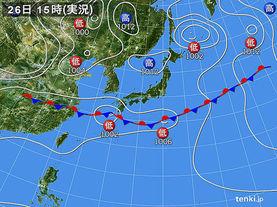 実況天気図(2018年05月26日)