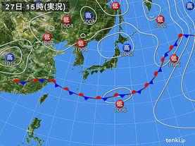 実況天気図(2018年05月27日)