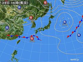 実況天気図(2018年05月28日)