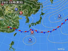 実況天気図(2018年05月29日)