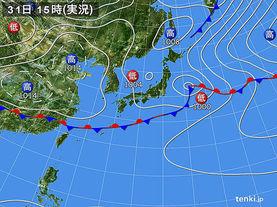 実況天気図(2018年05月31日)
