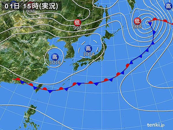 実況天気図(2018年06月01日)