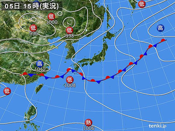 実況天気図(2018年06月05日)