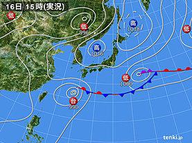 実況天気図(2018年06月16日)