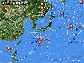 実況天気図(2018年06月17日)