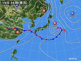 実況天気図(2018年06月19日)