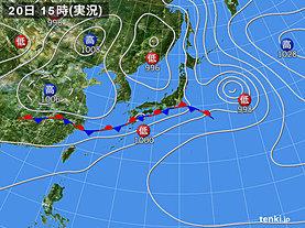 実況天気図(2018年06月20日)