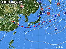 実況天気図(2018年06月24日)